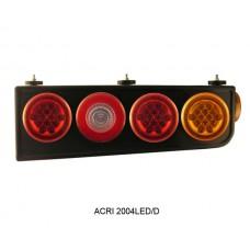 Conjunto Lanterna LED Bivolt Carreta Implemento Randon 2008>  Lado Direito