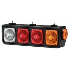 Conjunto Lanterna Traseira LED 24V Guerra Carretas Implementos   Lado Direita
