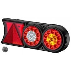 Conjunto Lanterna LED 24V Circle Light (conector 7  vias) Exclusivo Sinalsul Carretas Implementos Un