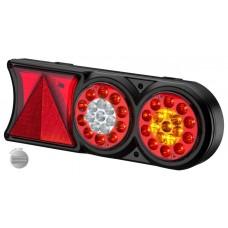 Conjunto Lanterna LED 12V Circle Light (conector 6 vias) Carretas Implementos Universal 174mm x 458m