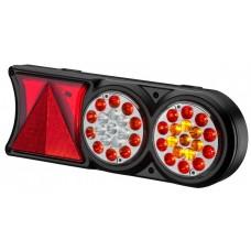 Conjunto Lanterna LED 24V Circle Light (conector 6 vias) Carretas Implementos Universal Lado Direito