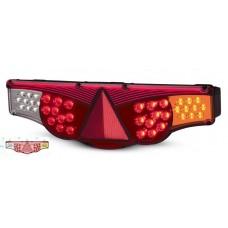 Lanterna Traseira LED 12V Fixação Superior Adaptação Carretas e Caminhões