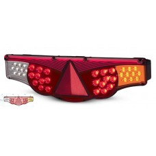 Lanterna Traseira LED 24V FIxacao Superior Adaptacao Carretas Implementos Caminhões L/Direito