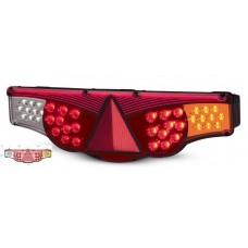 Lanterna Traseira LED 12V FIxacao Por Traz Adaptacao Carretas Implementos Caminhões L/Esquerdo