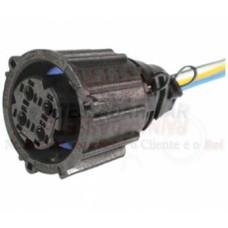 Plug Conector 4Vias Redondo Sensor Temperatura Óleo Pressão Volvo FH NH FM Scania Série 4 Série 5 MB