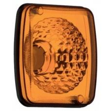 Lanterna Metalizada Amarela Conjunto Traseira Carreta Guerra