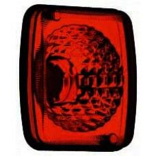 Lanterna Metalizada Vermelha Conjunto Carreta Guerra