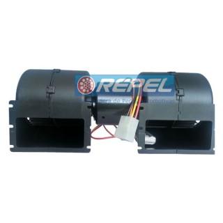 Eletroventilador Interno 12V Duplo Caterpillar New Holland Case (Ventilador Radial Duplo Interno)