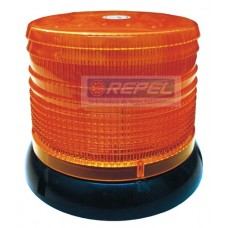 Sinalizador LED Rotativo e Flash Advertencia Amarelo 12V 100Leds Universal Medidas Aprox.: diam.16 x 12,8cm