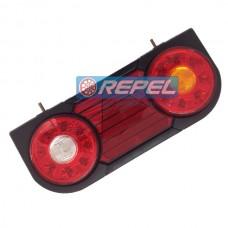 Conjunto Lanterna Traseira LED 24V Carretas e Implementos Adaptaões e Universais Modelo Braslux DUO Lado Direito Com Fixacao SUPERIOR