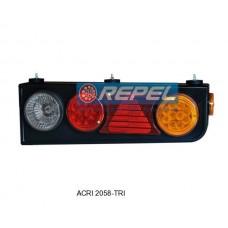 Conjunto Lanterna Traseira LED Carreta Randon 2008> Lado Direito Com Triangulo Rodotrem Bitrem
