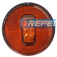 Lanterna Lateral LED 24V Carreta Guerra Sem Suporte e Plug Original Amarela