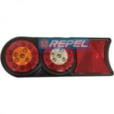 Conjunto Lanterna LED Bivolt12V 24V Circle Light (conector 6 vias) Carretas Implementos Universal 174mm x 458m Lado Esquerdo