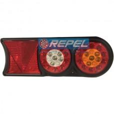 Conjunto Lanterna LED Bivolt12V 24V Circle Light (conector 6 vias) Carretas Implementos Universal 174mm x 458m Lado Direito