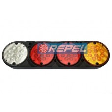Conjunto Lanterna LED 24V Adaptacao Carretas Implementos Cegonhas Caminhões Fixacao Superior Lado Direito