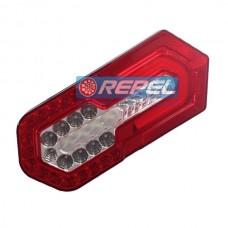 Lanterna Traseira LED Bivolt 12V 24V Universal Carretas e Implementos e Adaptacaoes Carretinhas e Outros (Tamanho 303mm X 132mm x30mm ) Com Guia de Luz
