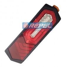 Conjunto Lanterna Traseira LED Bivolt Carretas e Implementos e Cegonhas Trailer Lado Direito