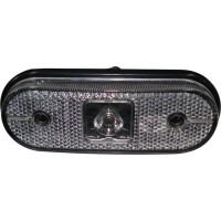 Lanterna Frontal e Lateral LED Cristal Oval Carreta Facchini
