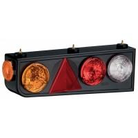 Conjunto Lanterna Traseira LED 24V Randon Carretas Implementos Lado Direita C/Triangulo