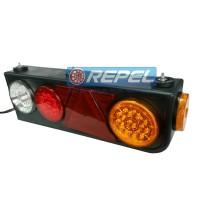 Conjunto Lanterna Traseira LED Carretas Semi Reboques Implementos Randon Com Triangulo Lado Direito